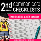 Common Core Standards Checklist-Second Grade