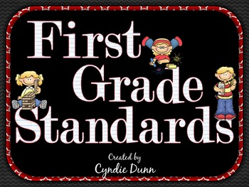 """Common Core Standards - First Grade """"I Can"""" Statements"""