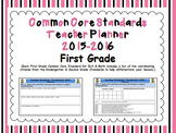 Common Core Standards First Grade Teacher Planner 2014-2015