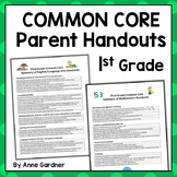 Common Core Standards Handout for First Grade