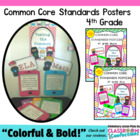 Common Core Standards Posters - 4th Grade {Text Message Style}