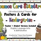Common Core Standards Posters & Cards for Kindergarten {Wo