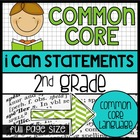 Common Core Standards Posters for 2nd grade {full page size}