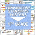 Common Core Standards Posters for Fourth Grade