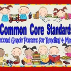 Common Core Standards Posters for Second Grade Reading and