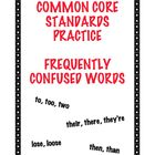 Common Core Standard L4.1g: Frequently Confused Words