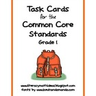 Common Core Standards Task Cards:  Grade 1