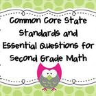 Common Core  Standards and Essential Questions for 2nd Gra
