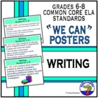 Common Core Standards for ELA Writing PowerPoint Posters