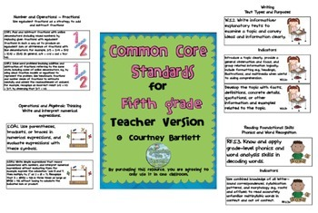 Common Core Standards for Fifth Grade