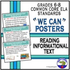 Common Core Standards for Reading Information PowerPoint Posters