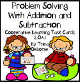 Addition and Subtraction Problem Solving Task Cards 2.OA.1