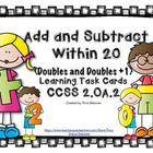 Addition and Subtraction with Fluency Task Cards 2.OA.2 (D