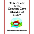 Common Core Task Cards:  Grade 7