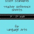 Common Core Teacher Reference Sheets - 11th + 12th Grade L