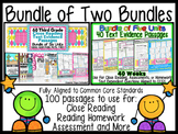 Common Core Text Evidence Bundle of 2 for Close Reading, H