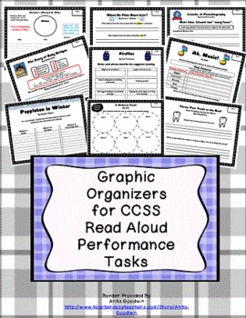 Common Core Text Exemplar Read Alouds Performance Tasks CCSS