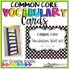 Common Core Vocabulary Wall Set: Grade 4
