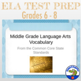 Common Core Vocabulary for Middle Grades PowerPoint
