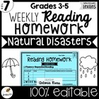 Common Core Weekly Reading Homework (Grades 3-5) - Natural
