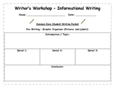 Common Core Writer's Workshop Informational Writing Proces