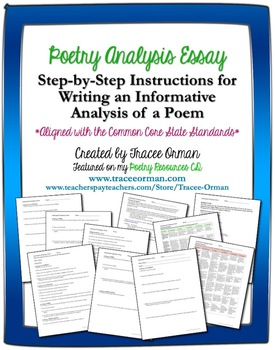 Poetry Analysis & Critique Essay Writing (Common Core Aligned)