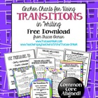 Common Core Writing Transitional Words Anchor Charts