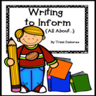 Common Core Writing to Inform (All About Books) Unit of Study