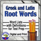 Common Root Words Handout