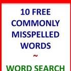 Commonly Misspelled Words-10 FREE Word Search Puzzles