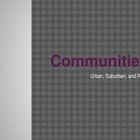 Communities Powerpoint