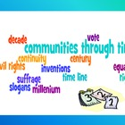 Communities through Time Vocabulary Study Guide and Quiz-