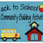 Community Building Activities for Back to School