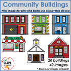 Community Buildings Clip Art