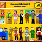 Community Helpers 3 - Jobs and Career Clipart personal or