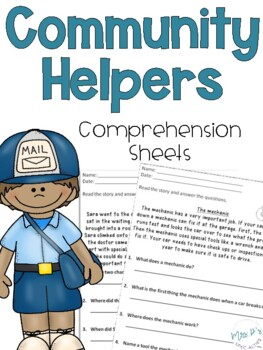 Community Helpers Comprehension Pack