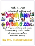 Community Helpers / Jobs read-and-write riddle books set