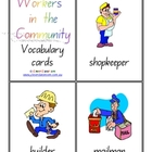 Community Workers Vocabulary/Flash Cards - 5 pages