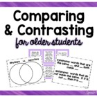 Compare & Contrast for Older Students