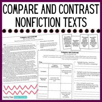 Compare and Contrast:  Nonfiction Texts