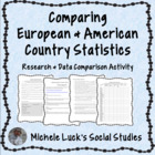 Comparing Country Statistics Geography Europe Research Activity