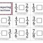 Comparing Fractions Flash Cards