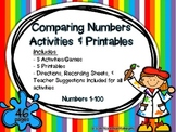Comparing Numbers: Activities & Printables {1-100}
