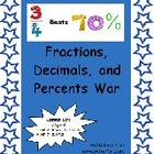 Comparing/Converting Fractions Decimal and Percent Game