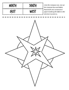Compass Rose - Cut and Paste Labeling Printable