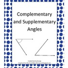 Complementary and Supplementary Angles Practice