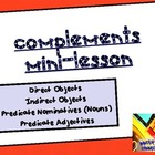 Complements Lesson: Four Complements Grammar Workshop PDF