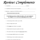 Complements Review