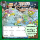 Complete 1st Semester World History Civ Package Plans, Act