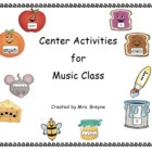 Complete Collection of Center Activities for Music Class